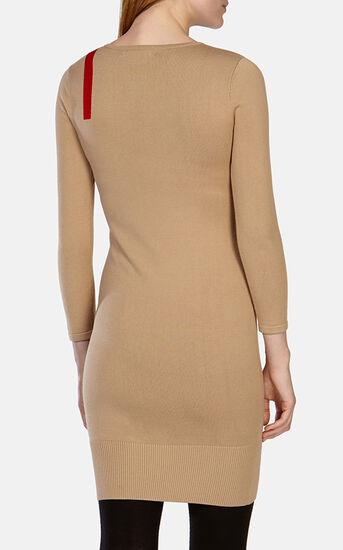 Karen Millen, STRIPED KNIT DRESS Camel 3
