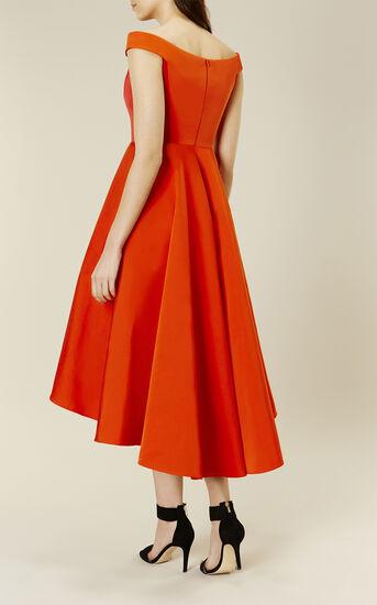 Karen Millen, OFF-THE-SHOULDER PROM DRESS Red 3