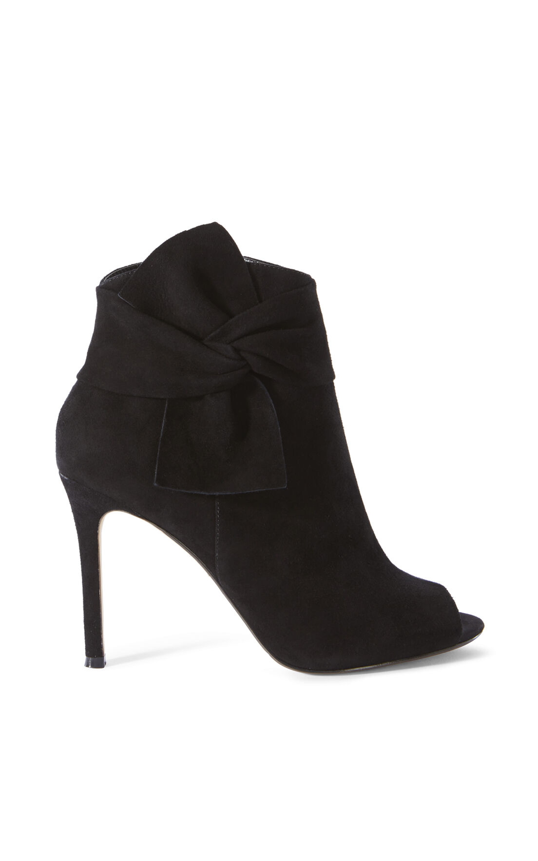 Karen Millen, BOW ANKLE BOOT Black 0