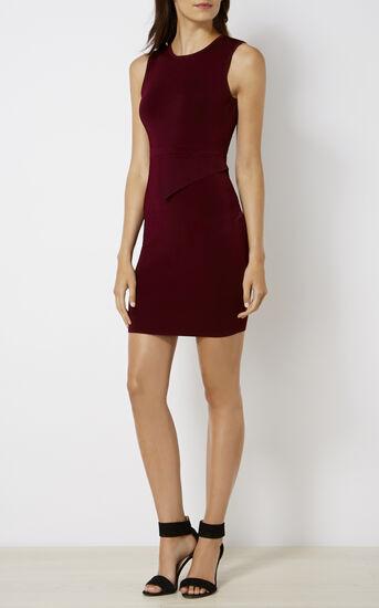 Karen Millen, ASYMMETRIC WAIST DRESS Purple 1