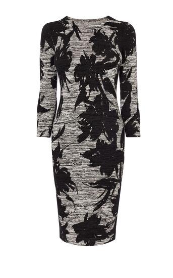 Karen Millen, FLORAL KNIT DRESS Grey/Multi 0