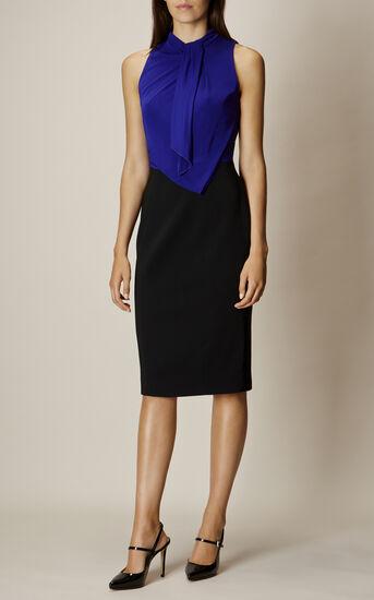Karen Millen, DEBONAIRE DRESS Black/Multi 1