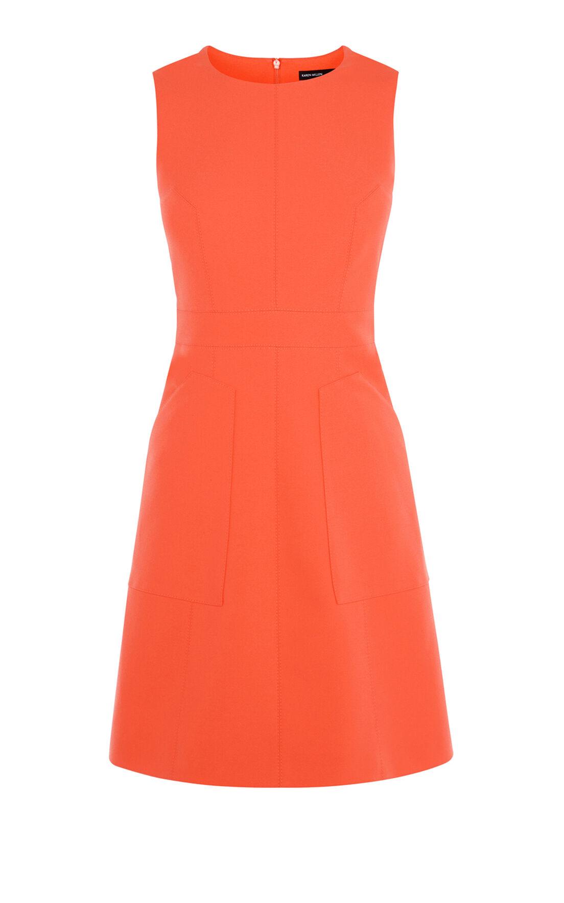 Karen Millen, CREPE SHIFT DRESS Orange 0