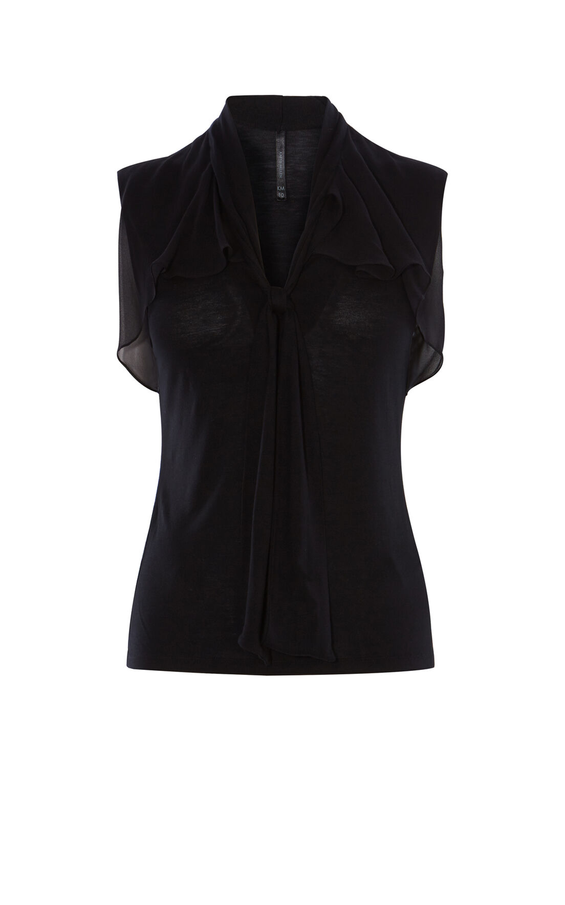Karen Millen, DRAPED TOP Black 0