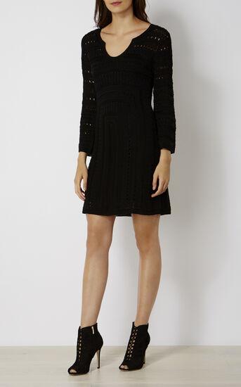 Karen Millen, CROCHET DRESS Black 1