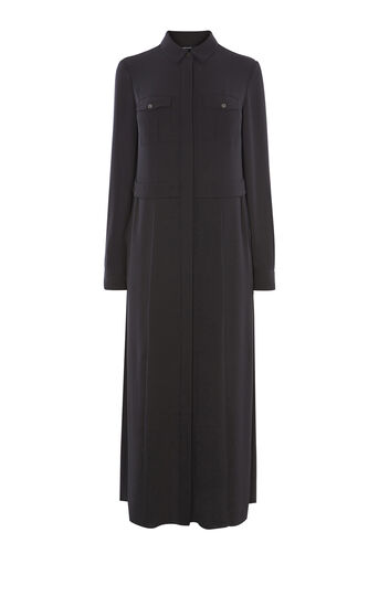 Karen Millen, MAXI SHIRT DRESS Black 0