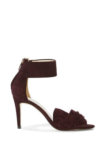 Karen Millen, SUEDE BOW SANDAL Purple 0