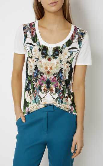 Karen Millen, JUNGLE-PRINT T-SHIRT Multicolour 2