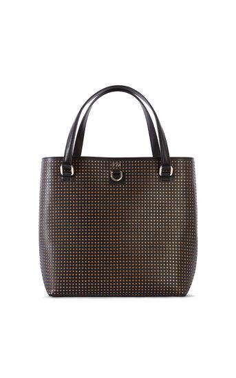 Karen Millen, PERFORATED MINI-BUCKET BAG Black 0