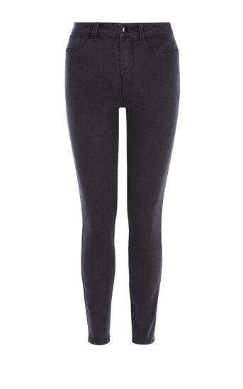 Karen Millen, Verwaschene schwarze Skinny-Jeans Schwarz 0