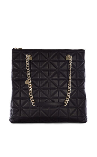 Karen Millen, QUILTED CHAIN BAG Black 0