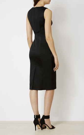 Karen Millen, MONOCHROME PENCIL DRESS Black & White 3