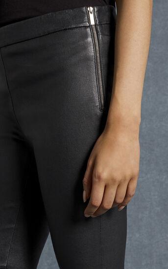 Karen Millen, BLACK LEATHER LEGGINGS Black 4