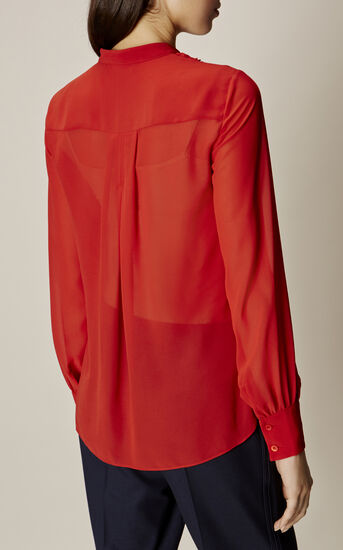 Karen Millen, Ruffle-front blouse Orange 4