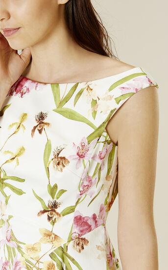 Karen Millen, LILY-PRINT COTTON DRESS Multicolour 4