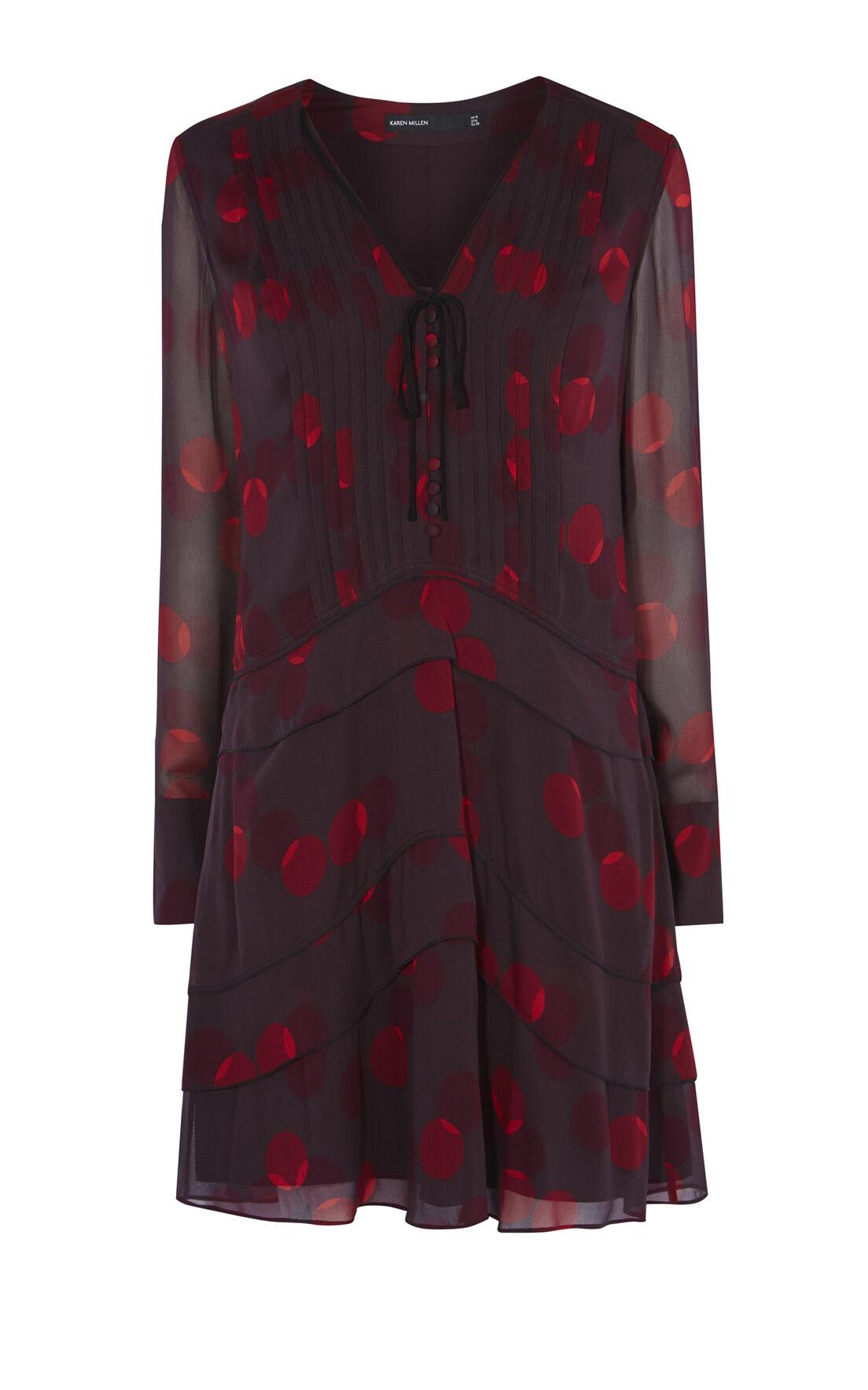 Karen Millen, GEO-PRINT SHIRT DRESS Multicolour 0