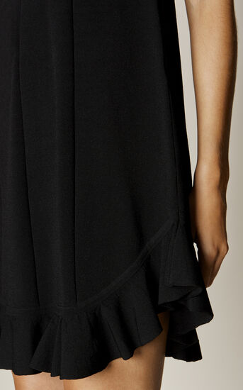 Karen Millen, FRILL-HEM DRESS Black 4