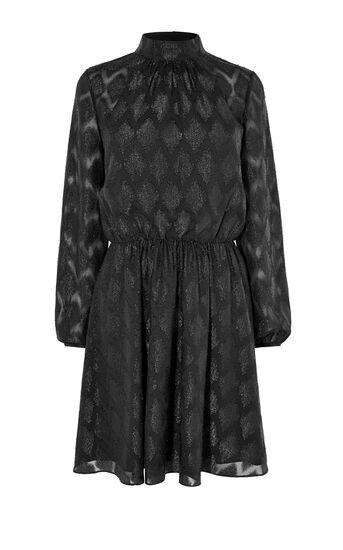 Karen Millen, JACQUARD PARTY DRESS Black 0