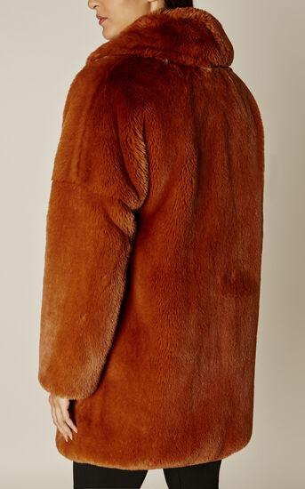 Karen Millen, TEDDY FUR COAT Tan 2
