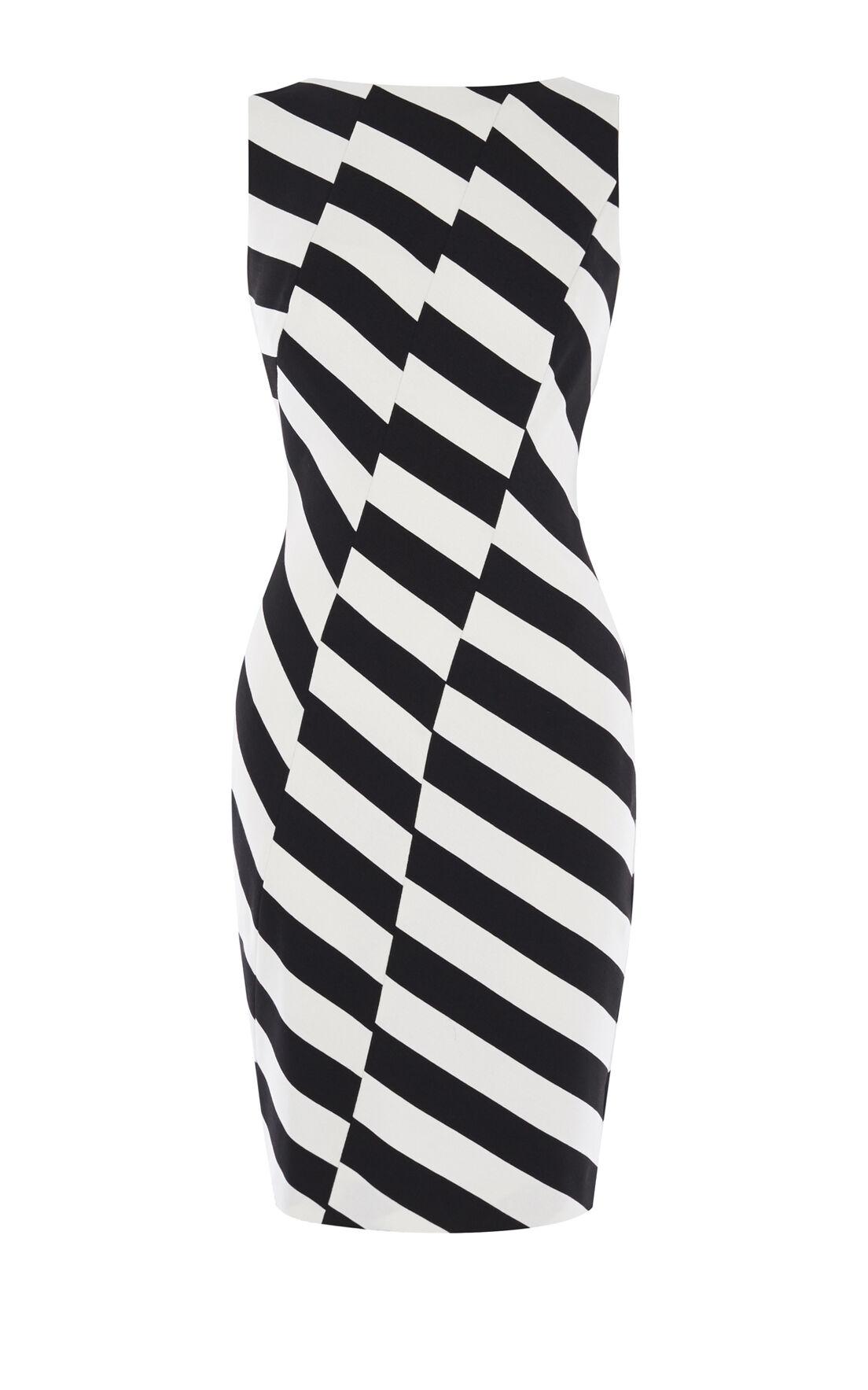 Karen Millen, BARCODE DRESS Black & White 0