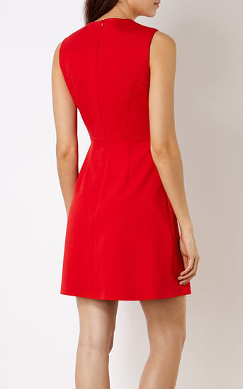 Karen Millen, BUTTON-DETAIL MINIDRESS Red 3
