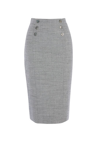 Karen Millen, TAILORED SKIRT Grey 0