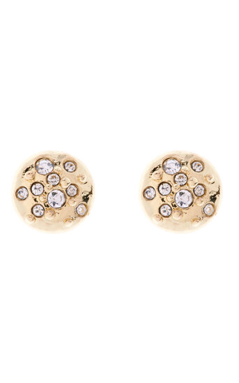 Karen Millen, Crystal Sprinkle Stud Earrings Gold Colour 0