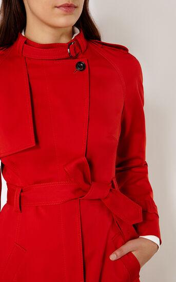 Karen Millen, RED TRENCH COAT Red 4