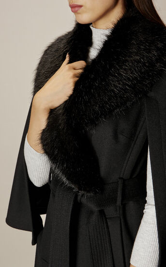 Karen Millen, BELTED CAPE Black 5