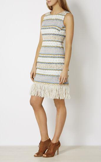 Karen Millen, FRINGED TWEED DRESS Multicolour 1
