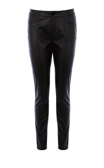 Karen Millen, Leather Look Legging Black 0