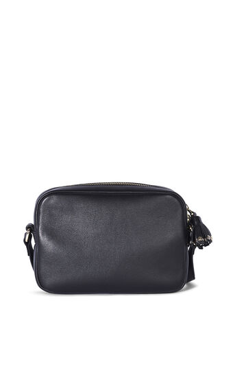 Karen Millen, LEATHER STUD CAMERA BAG Black 2