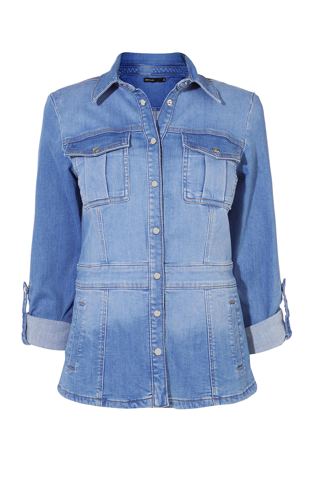 Karen Millen, DENIM SHIRT JACKET Denim 0