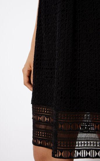 Karen Millen, BRODERIE SHIRT DRESS Black 4