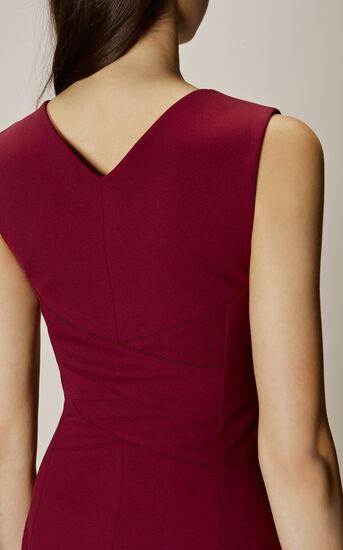 Karen Millen, SQUARE NECKLINE PENCIL DRESS Aubergine 4