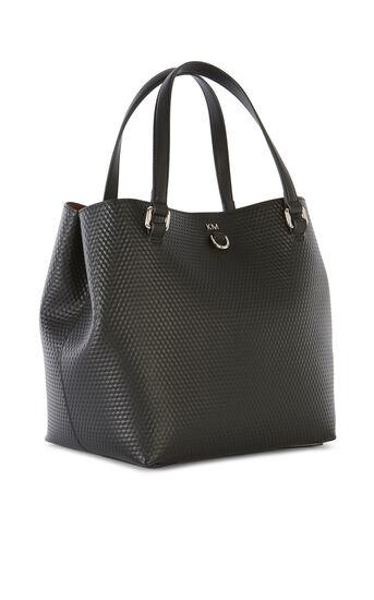 Karen Millen, EMBOSSED BUCKET BAG Black 3