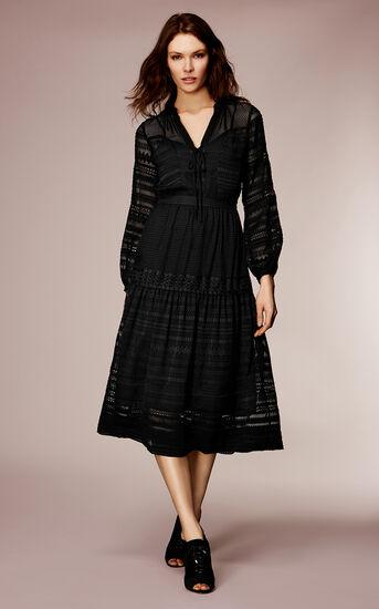 Karen Millen, LACE MAXI DRESS Black 1