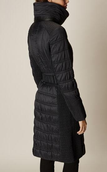 Karen Millen, BELTED PADDED COAT Black 6