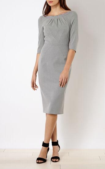 Karen Millen, CHECKED PENCIL DRESS Blk&Wht 1