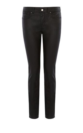 Karen Millen, Beschichtete Skinny-jeans Aus Denim Schwarz 0