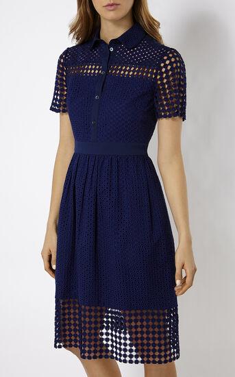 Karen Millen, BRODERIE DRESS Blue 2