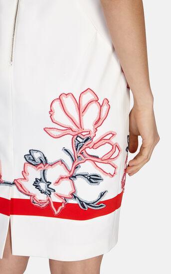 Karen Millen, Floral ribbon embroidery dress White/Mult 4