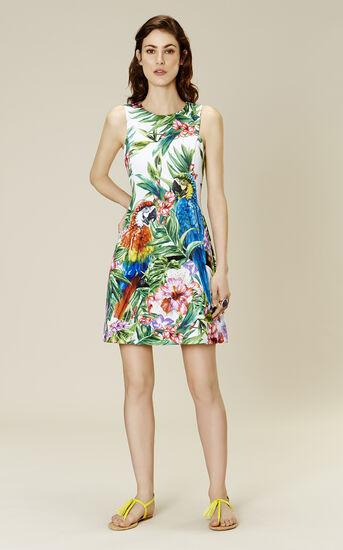 Karen Millen, BOTANICAL-PRINT SCUBA DRESS Multicolour 1