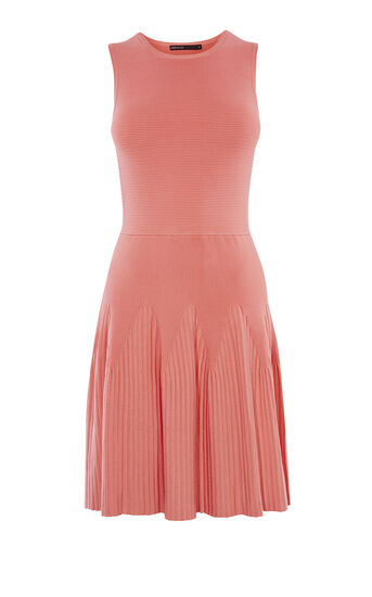 Karen Millen, RIBBED KNIT DRESS Pink 0