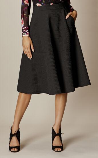 Karen Millen, A-LINE SKIRT Black 2