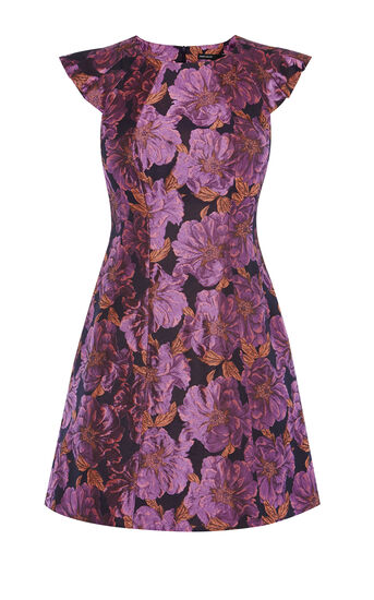 Karen Millen, ROSE BOUQUET DRESS Purple 0