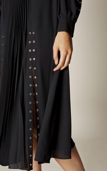 Karen Millen, STUDDED SHIRT DRESS Black 4