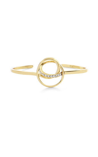Karen Millen, Crystal Ribbon Cuff Gold Colour 0