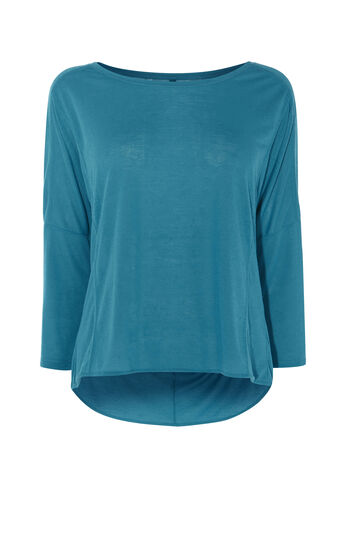 Karen Millen, SHEER BACK TOP Teal 0