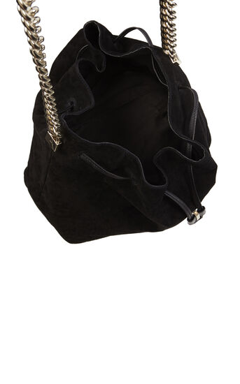 Karen Millen, SUEDE DRAWSTRING BAG Black 4